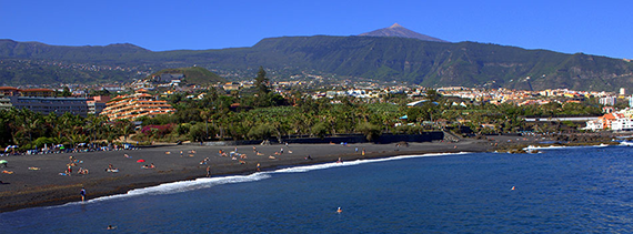 Playas de tenerife isla de tenerife v vela - Playa jardin puerto de la cruz tenerife ...