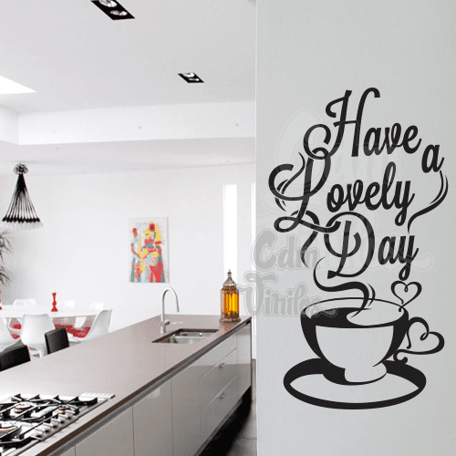 Vinilo decorativo have a lovely day cdm vinilos - Vinilo decorativo cocina ...
