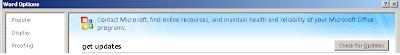 Microsoft Word Update
