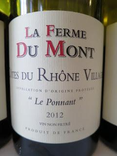 La Ferme Du Mont Le Ponnant Côtes du Rhône Villages 2012 - Unfiltered, AC, Rhône, France (89 pts)
