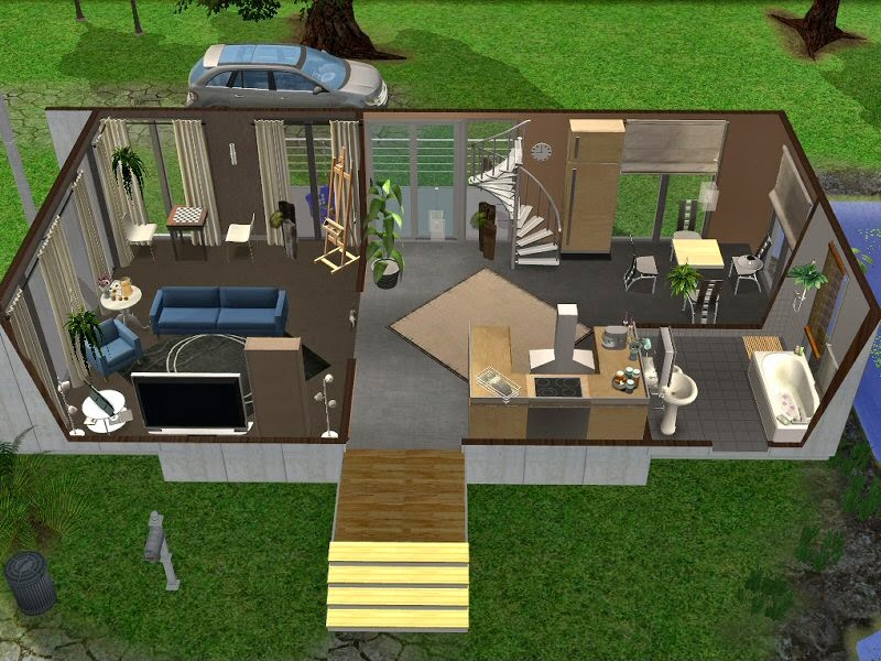 simplified sims 2 haus diva. Black Bedroom Furniture Sets. Home Design Ideas
