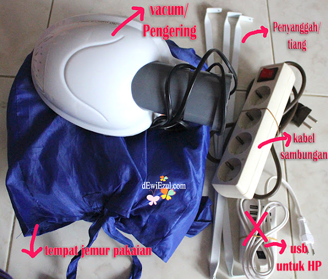 alat mencuci di saat Travelling, Air o dry