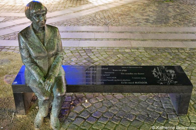 Statue of Danish Author Lise Nørgaard Roskilde Denmark