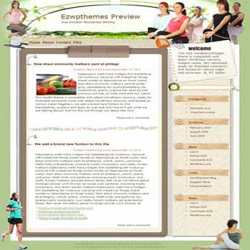 Like Fish blogger template. template blog from wordpress
