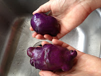 Our new blue potatoes