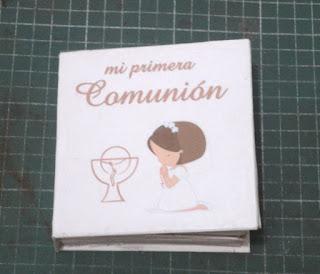 Libro Invitacion Primera Comunion