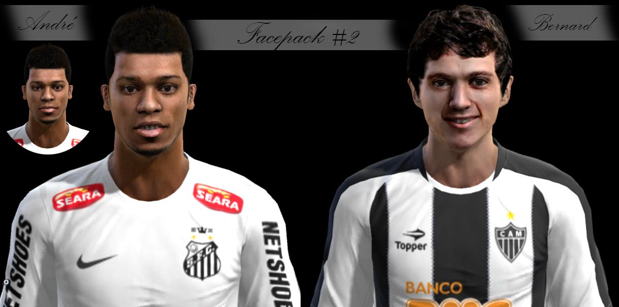 André e Bernard Faces - PES 2013