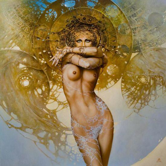karol bak pinturas mulheres sensuais seminuas surreais sexy eróticas coloridas