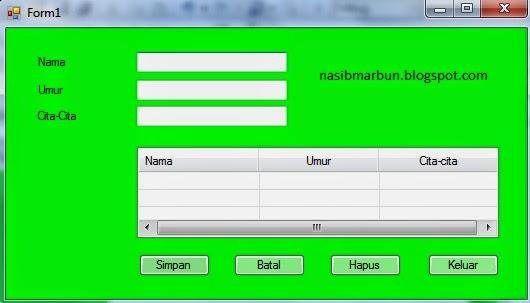 Cara membuat ListView menggunakan VB.NET 2008