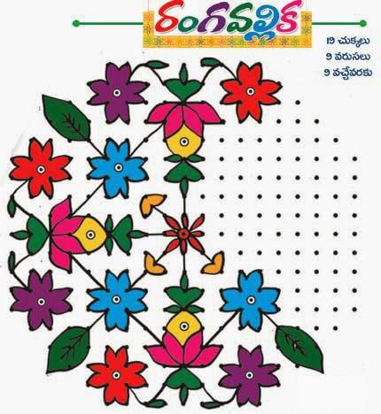 tags makar sankranti muggulu chukkala muggulu with dots rangoli for