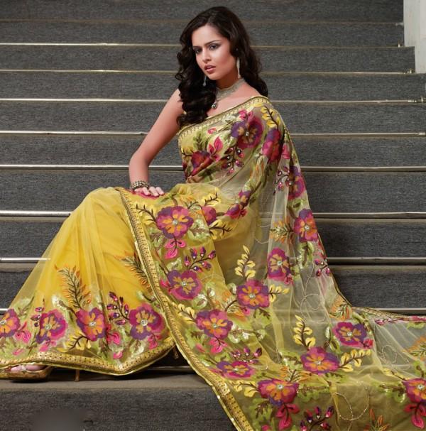 New Women Saree Dress Fashion Trend Wallpaper