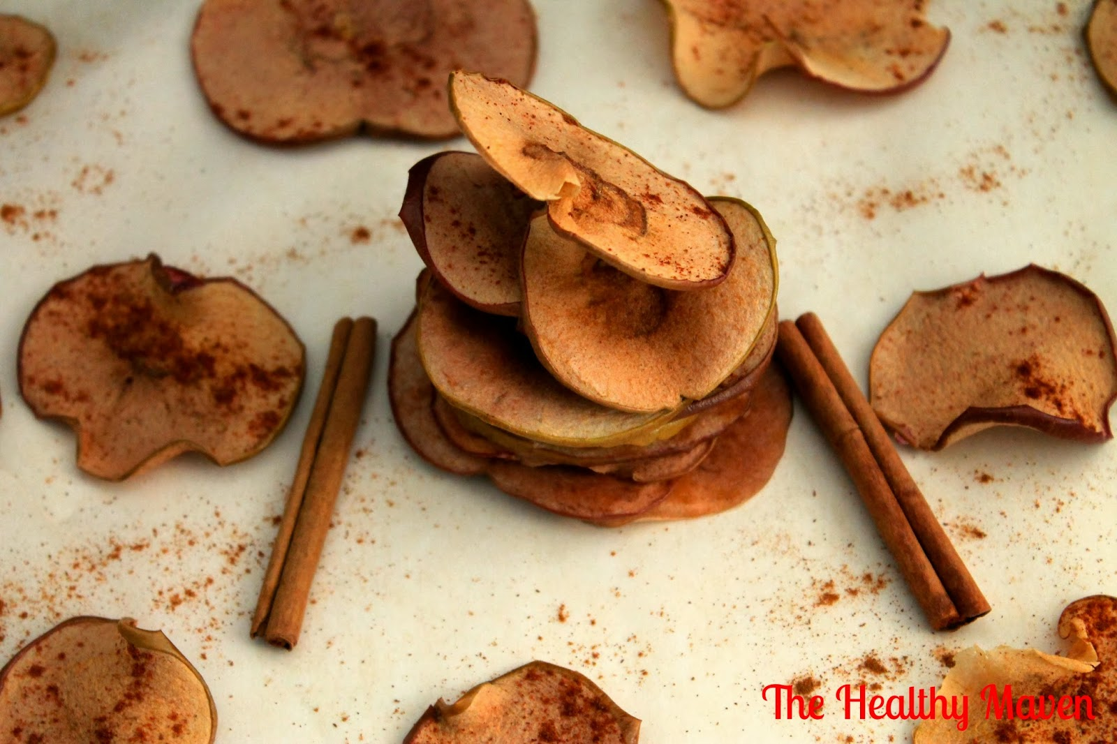 Baked Cinnamon Apple Chips - The Healthy Maven