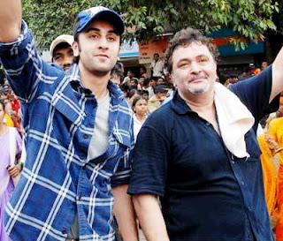 Ranbir with Rishi Kapoor