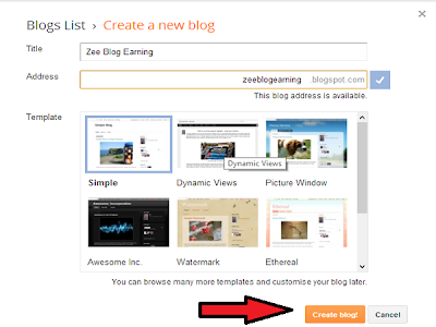How to start a blog with blogger 1.4