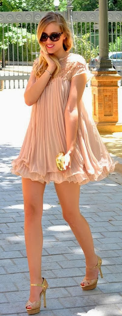 Very Romantic Pink Mini Dress