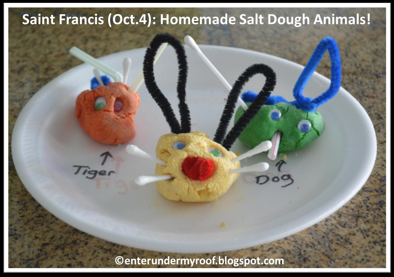 Saint Francis Animals Salt Dough Activity Project for Kids
