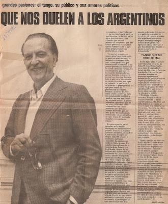 Reportaje a Hugo del Carril a sus 70 años 2da parte