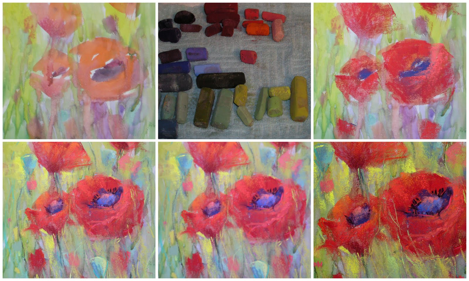Painting My World: How to Make your Poppies Pop...A Quick Demo