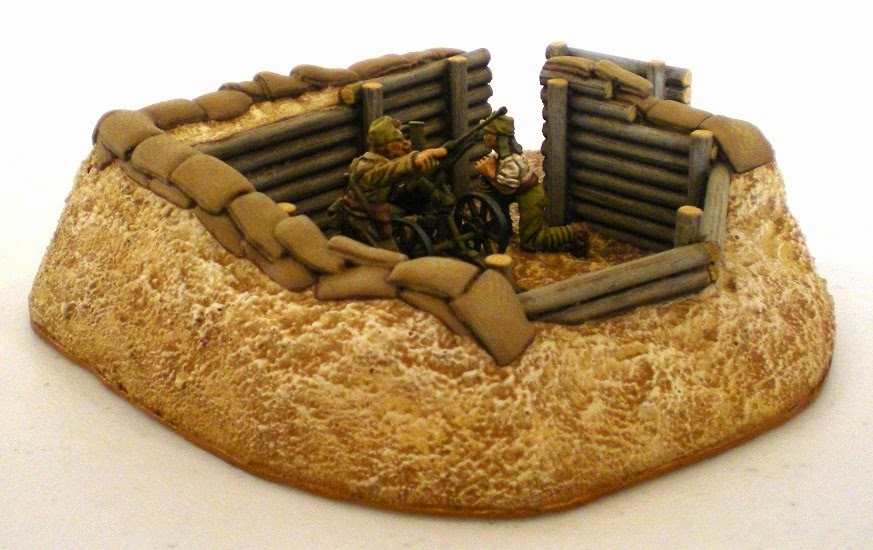Painted Emplacement with 20mm AA Gun