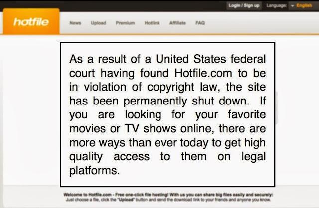 إغلاق موقع HotFile بسبب انتهاكه حقوق الملكية