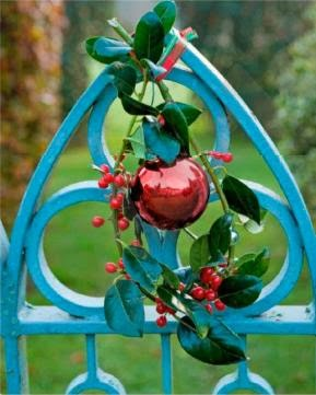 bauble holly decorations