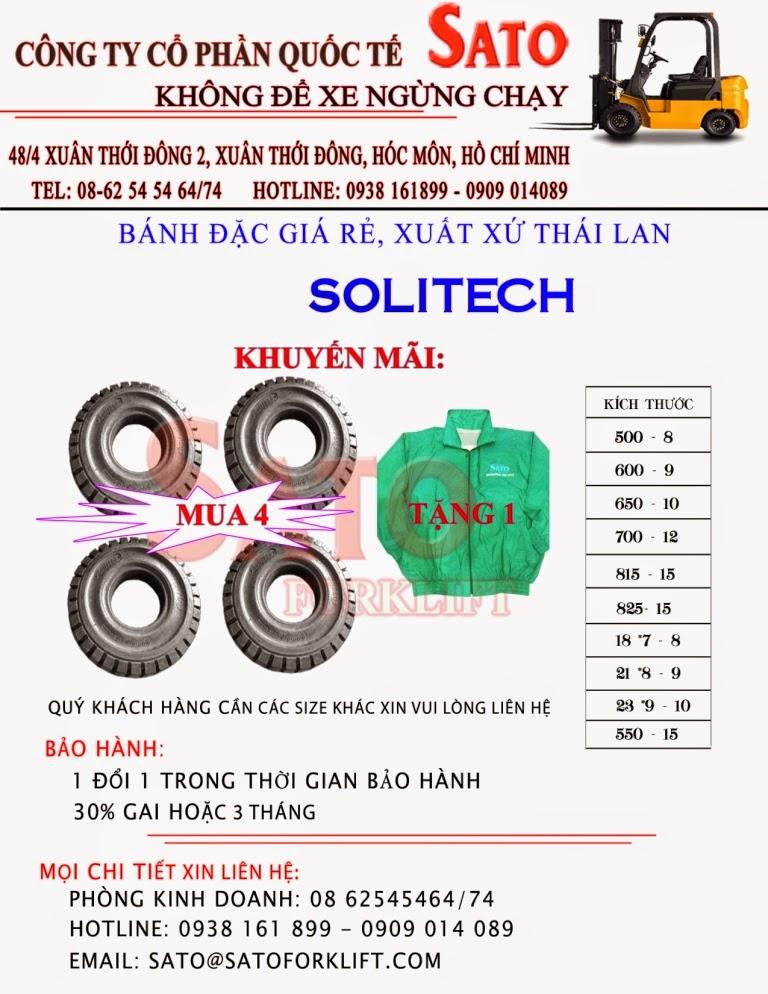 Lốp xe nâng Solitech