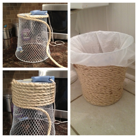 Two It Yourself Dollar Store Trash Can Makeover
