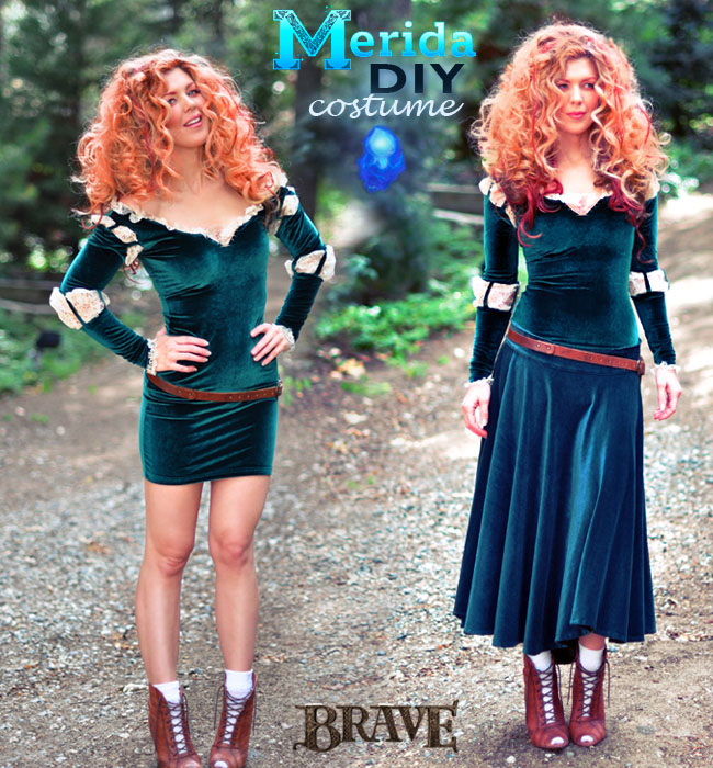 DIY Brave Costume, Princess Merida adult costume