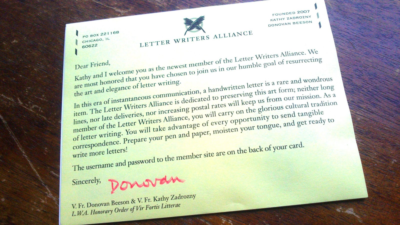 letter writers The latest tweets from letter writers allc (@_lwa) the letter writers alliance is an organization dedicated to letter writing and postal adventures become a lifetime member for $5 chicago, il.