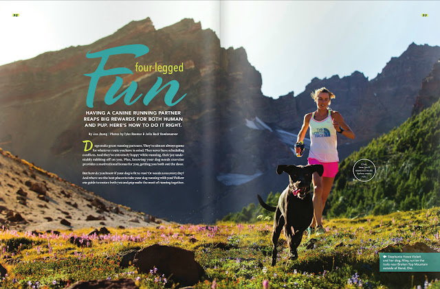 Stephanie Howe trail running in summer in the Cascade Mountain Range, Oregon.