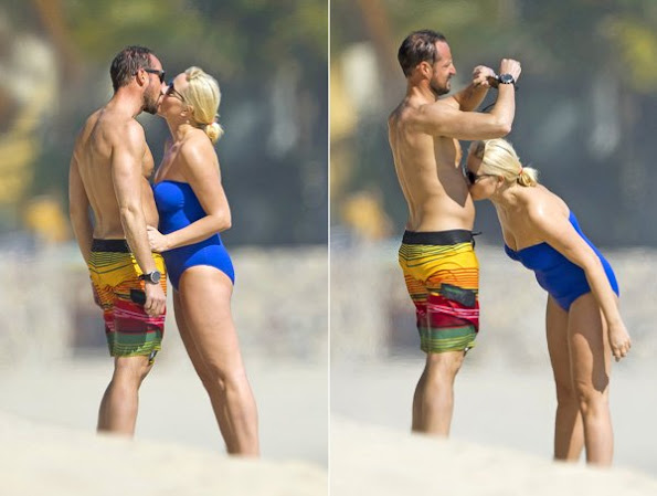 Princess Mette-Marit And Prince Haakon On Holiday In Mexico