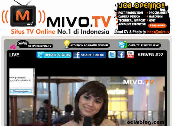 TV Streaming Indonesia Gratis http://www.ocimblog.com/2013/03/tv-online.html