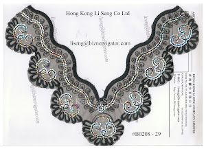 Embroidered Net Lace Applique Manufacturer - Hong Kong Li Seng Co Ltd