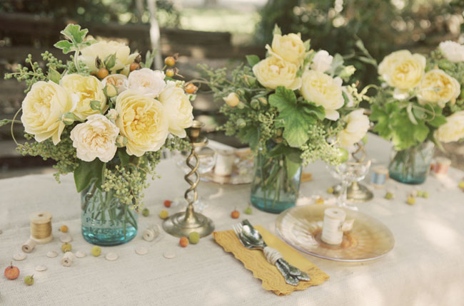 Rustic vermont wedding table decoration ideas