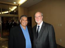 O Jornalista Geraldo Felix, diretor da abramidia | mg e o Deputado Federal Eduardo Azeredo na solen
