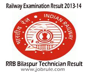RRB Bilaspur Technician Signal Grade-II and Technician Grade-III Result (CEN 04/2012) 2013