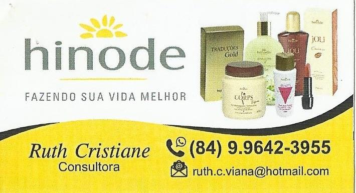 CONSULTORA DE VENDAS RUTH CRISTIANE.