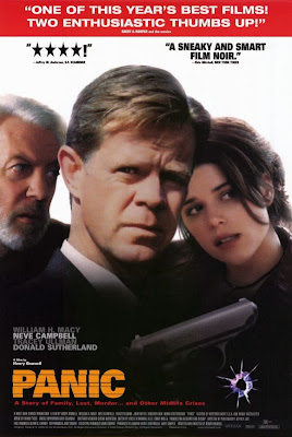William H. Macy Donald Sutherland and Neve Campbell on Panic movie poster