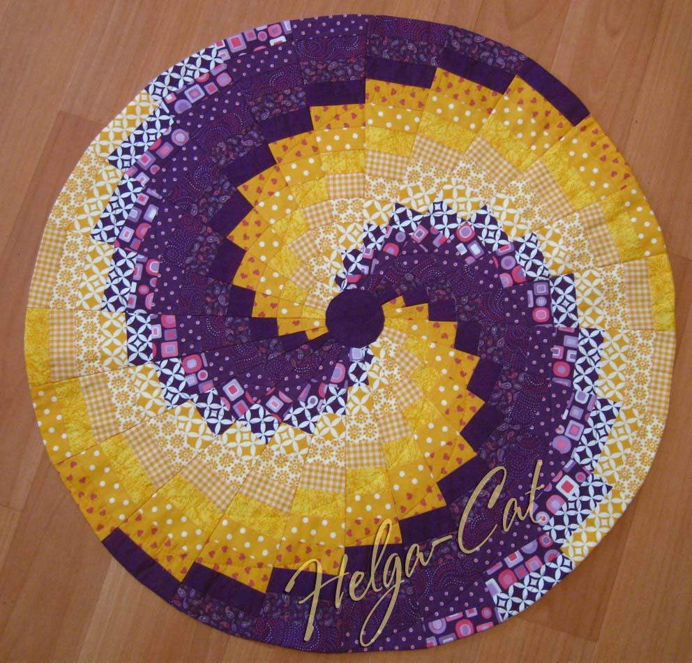 Лоскутное шитье по кругу
