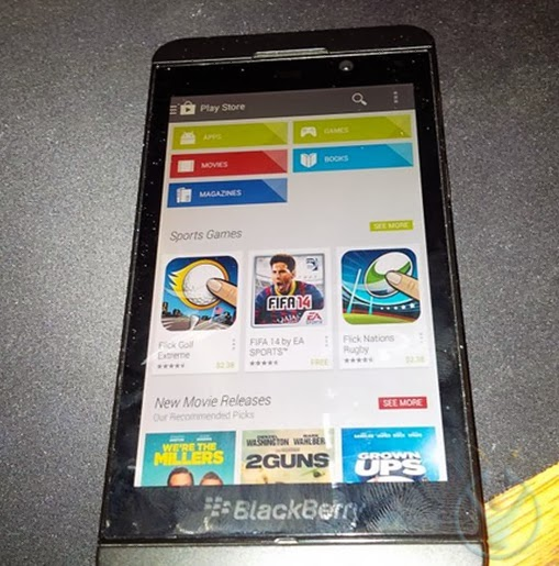 blackberry z10 google play