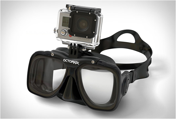 Octomask | GoPro | Octomask price $79.99 Octomask features a built in GoPro Camera mount allowing you to shoot hands-free video whilst diving or snorkeling. Simply attach any version of the GoPro