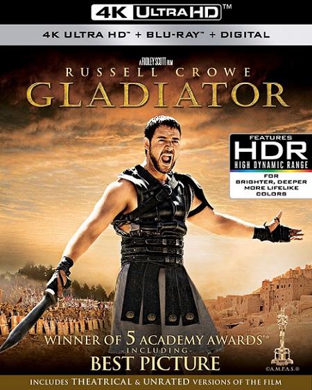 Gladiator EXTENDED 4K (Gladiador 4K) (2000) 2160p 4K UltraHD HDR BluRay REMUX 58GB mkv Dual Audio DTS-X 7.1 ch