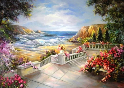flores-con-paisajes-al-oleo