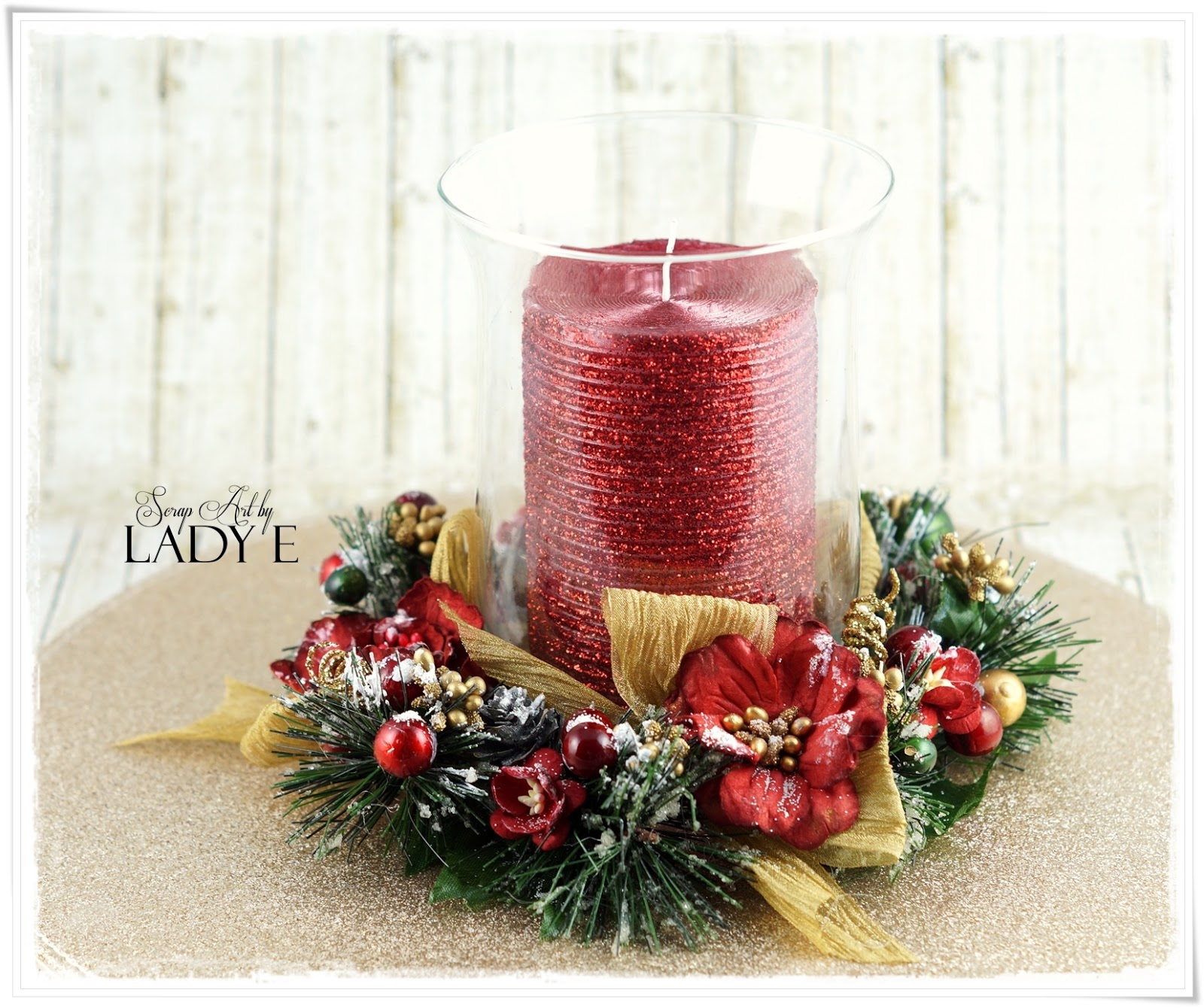 Wild orchid crafts christmas candle decoration for 7 candle christmas decoration