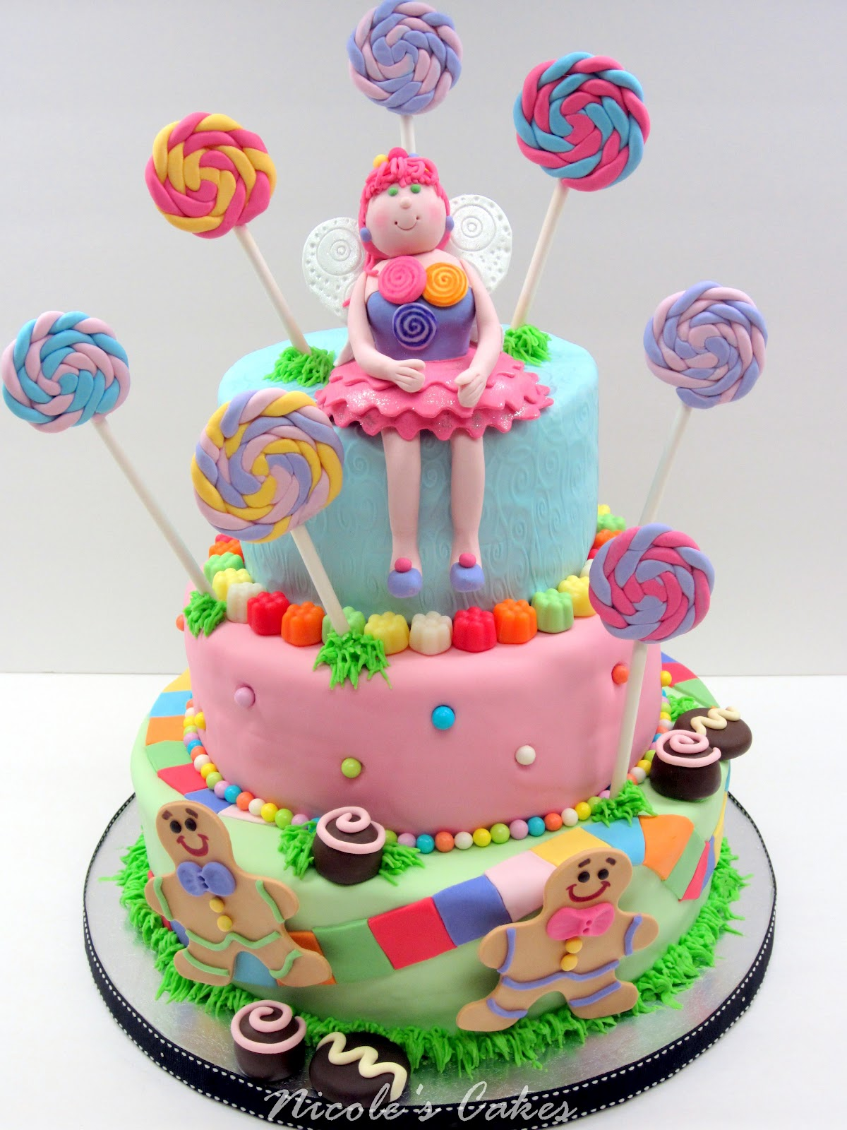 On Birthday Cakes Colorful Candyland Cake