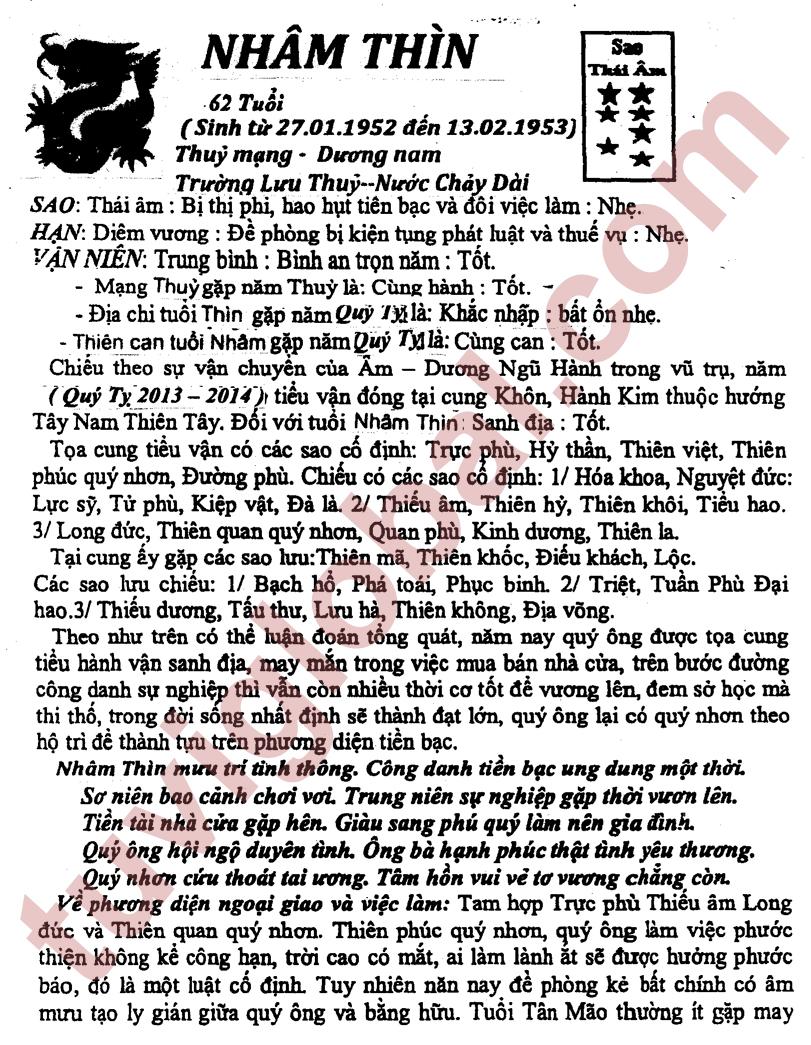 Tuoi Nham Ty Nam 2014