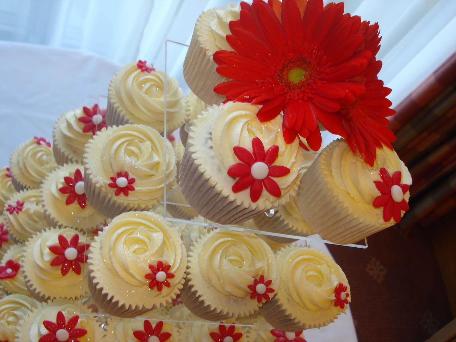 Cupcakes de Boda Rojos, parte 3