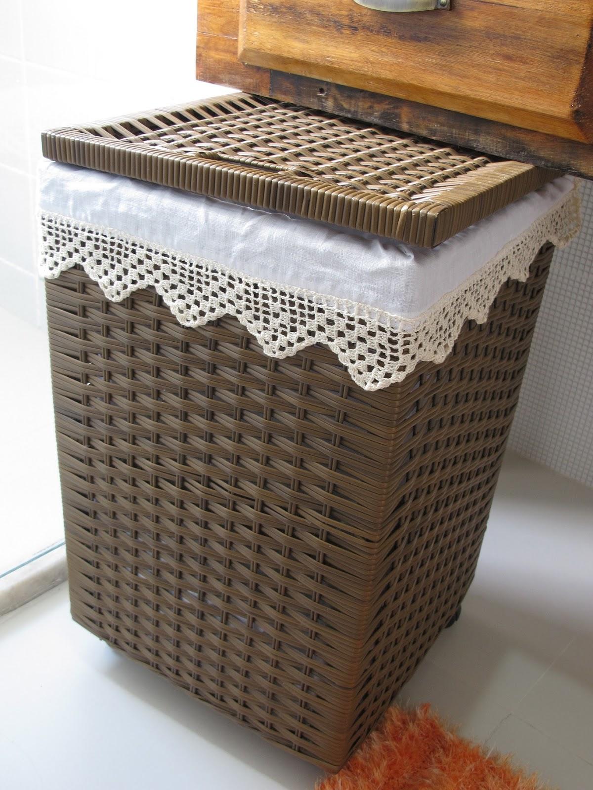 Agulhas e pinceis forro de tecido para cesto de roupa - Cesto para mantas ...