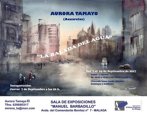 EXPOSICION ACUARELAS EN SALA MANUEL BARBADILLO (MALAGA)