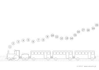 kolorowanki dla dzieci do wydrukowania pociąg